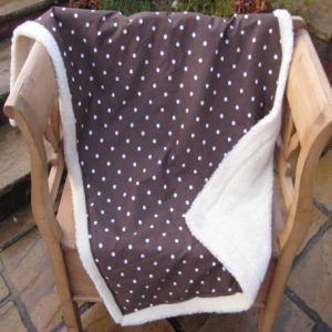 Dog blanket brown with spots